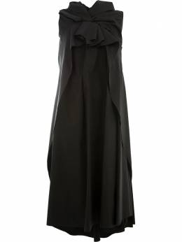 Aganovich oversized knot detail dress CDR02