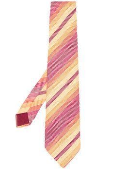 Hermes галстук 2000-х годов в диагональную полоску HERMES150P