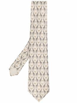Hermes галстук 2000-х годов с принтом pre-owned HERM180F