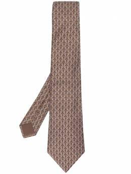 Hermes галстук 2000-х годов с геометричным узором pre-owned HERM180J