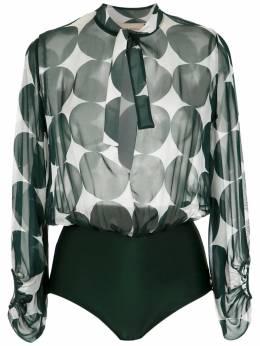 Adriana Degreas printed silk bodysuit BDDV0058