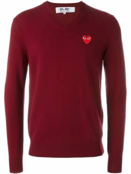 Comme Des Garcons Play свитер с V-образным вырезом 'Red Play' AZN002
