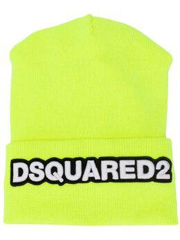 Dsquared2 шапка бини с нашивкой в виде логотипа KNM000105M02265
