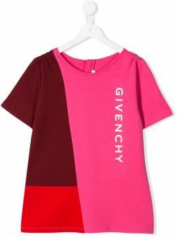 Givenchy Kids футболка в стиле колор-блок H15114S19