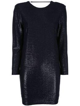 Michelle Mason платье мини с эффектом металлик M9220