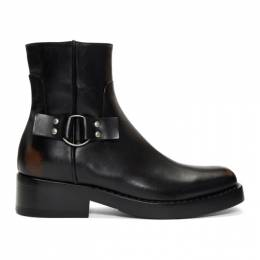 Raf Simons Black High Sole Detail Low Boots 192-932