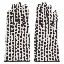Raf Simons Black and White Animal Print Gloves 192-961
