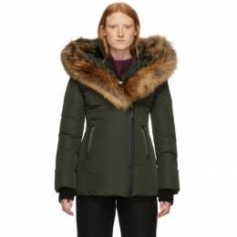 Mackage Green Down and Fur Classic Adali Parka ADALI-R