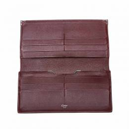 Cartier Black Leather Must de Cartier Continental Wallet