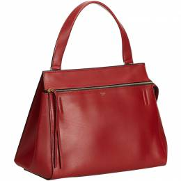 Celine Red Leather Large Edge Bag 209832
