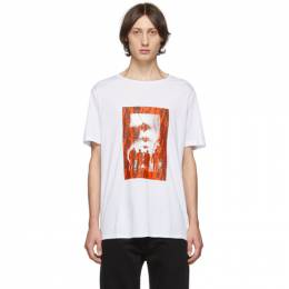 Neil Barrett White and Red Chaotic Subway Loose T-Shirt BJT622S M577S