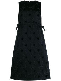 Comme Des Garcons Noir Kei Ninomiya платье-трапеция с цветочным принтом 3DO011W19
