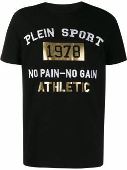 Plein Sport футболка с вышитым логотипом A19CMTK4171SJY001N
