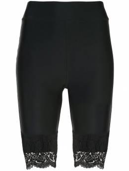 Cynthia Rowley байкерские шорты Ives с кружевом 19S1PT09NY
