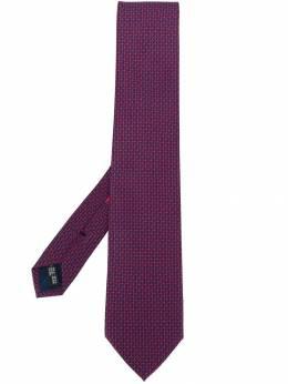 Salvatore Ferragamo галстук Gancini с геометричным принтом 711770