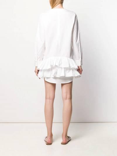 Jourden - поплиновое платье-рубашка с оборками 9WR3TH60956335380000 - 4