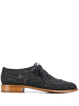 Clergerie туфли Paille на шнуровке 312564