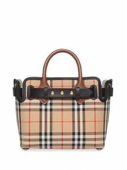 Burberry сумка Belt в клетку Vintage Check с заклепками 8021274