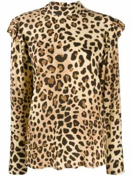 Be Blumarine блузка с леопардовым принтом 8124