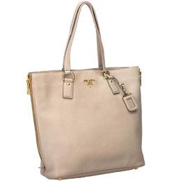 Prada Pink Leather Vitello Daino Tote Bag 185331