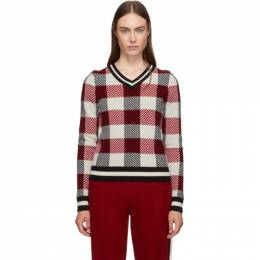 Rag&Bone Red Gabby V-Neck Sweater WAS19FS0018X01