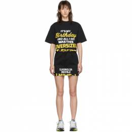 Vetements Black Happy Birthday T-Shirt Dress Set WAH20TR503