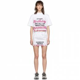 Vetements White Happy Birthday T-Shirt Dress Set WAH20TR503
