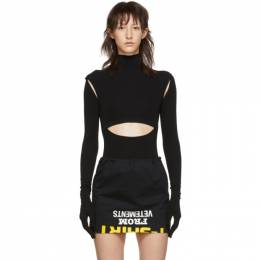 Vetements Black Cut-Up Bodysuit WAH20TR304