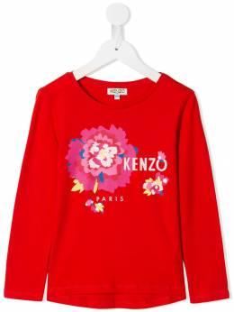 Kenzo Kids футболка с цветочным принтом KP1006838