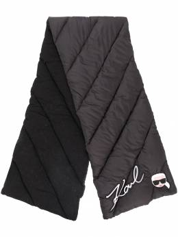Karl Lagerfeld шарф с логотипом 'Ikonik' 86KW3312999