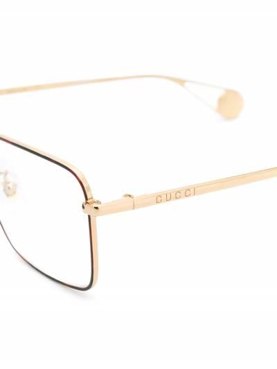 Gucci Eyewear очки в прямоугольной оправе GG0439O - 3