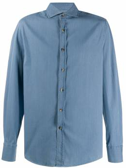 Brunello Cucinelli джинсовая рубашка узкого кроя ML6941718C008
