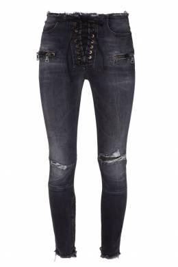 Черные джинсы со шнуровкой Unravel Project 2852145096