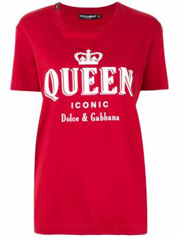 Dolce&Gabbana футболка с принтом Iconic Queen F8K74TG7TAN