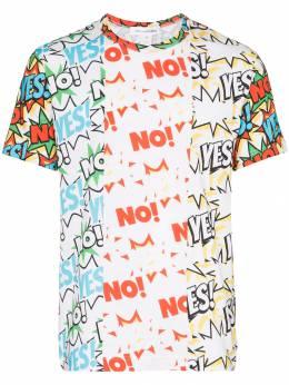 Comme Des Garcons Shirt футболка с принтом Yes No W27105