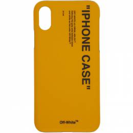 Off-White Yellow Quote iPhone X Case 192607M15300701GB