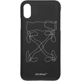 Off-White Black Abstract Arrows iPhone X Case 192607M15300501GB
