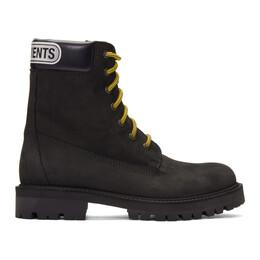 Vetements Black Trucker Boots UAH20VET191008-104