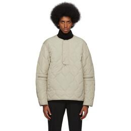 Dries Van Noten Beige Quilted Jacket 21150-8604-103
