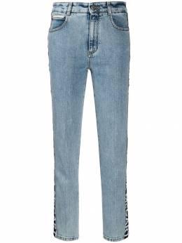 Stella McCartney джинсы с завышенной талией и логотипом 583792SNH09