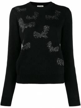Saint Laurent свитер с вышивкой 586250YAHF2