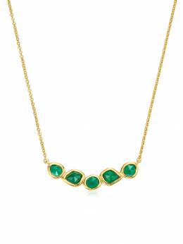 Monica Vinader GP Siren Mini Nugget Cluster Green Onyx necklace GPNKSIMCGRO