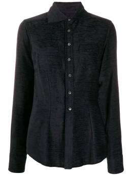 Romeo Gigli Pre-Owned фактурная рубашка 1990-х годов кроя слим RGIG200C