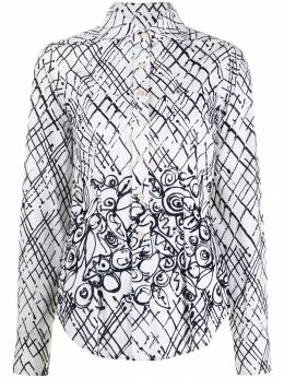 Romeo Gigli Pre-Owned деконструированная рубашка 1997-го года в клетку RGIG250E
