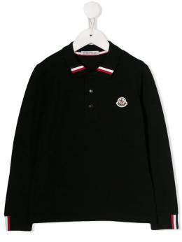 Moncler Kids рубашка-поло с нашивкой-логотипом 831240584632