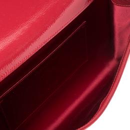 Saint Laurent Red Patent Leather Belle De Jour Flap Clutch 213683