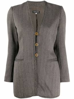 Giorgio Armani Pre-Owned пиджак кроя слим 1990-х годов в ломаную клетку ARMA250A