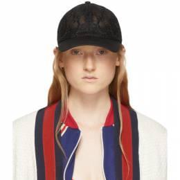 Gucci Black GG Embroidered Baseball Cap 579155 3HH87