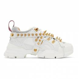 Gucci White Removable Studs Flashtrek Sneakers 576627 9Y070