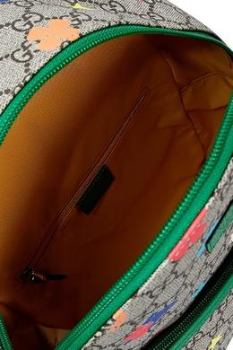 Рюкзак с комбинированным принтом Gucci Kids 1256146130